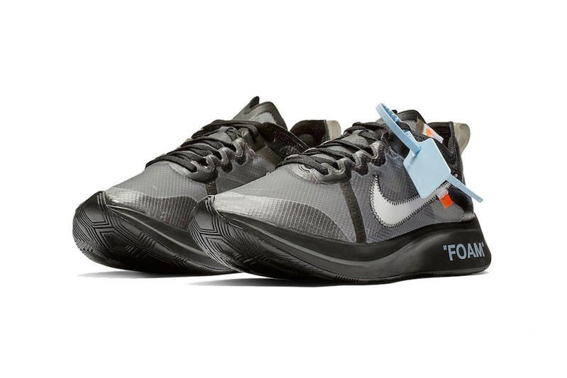 "Photos Des Off-White™ x Nike Zoom Fly ""Tulip Pink"" Et ""Black"""