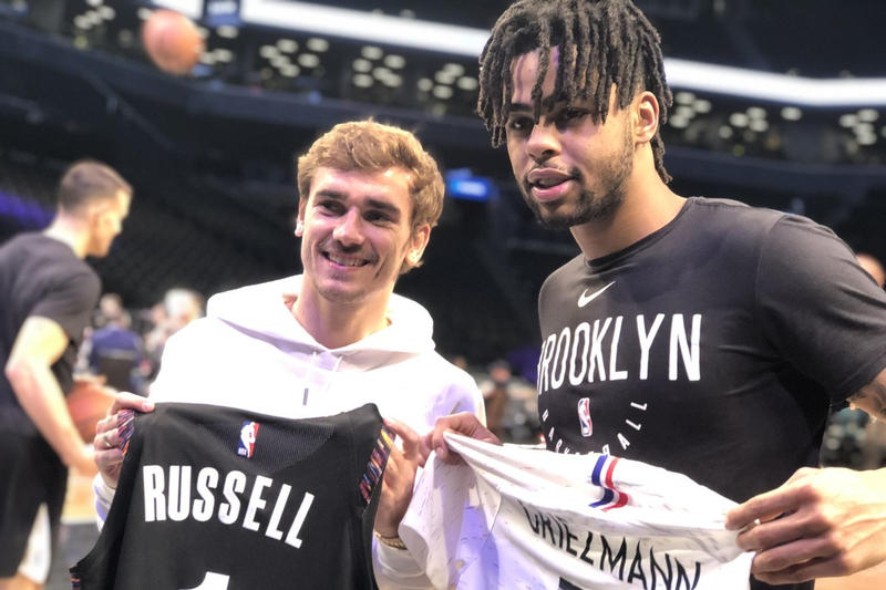 Photo Griezmann D'Angelo Russell