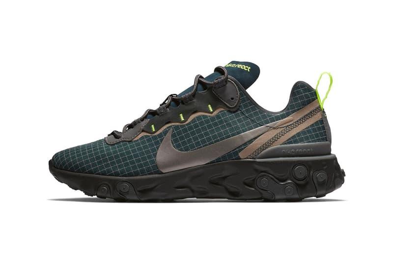 Nike React Element 55 Vert Foncé Nouveau Coloris