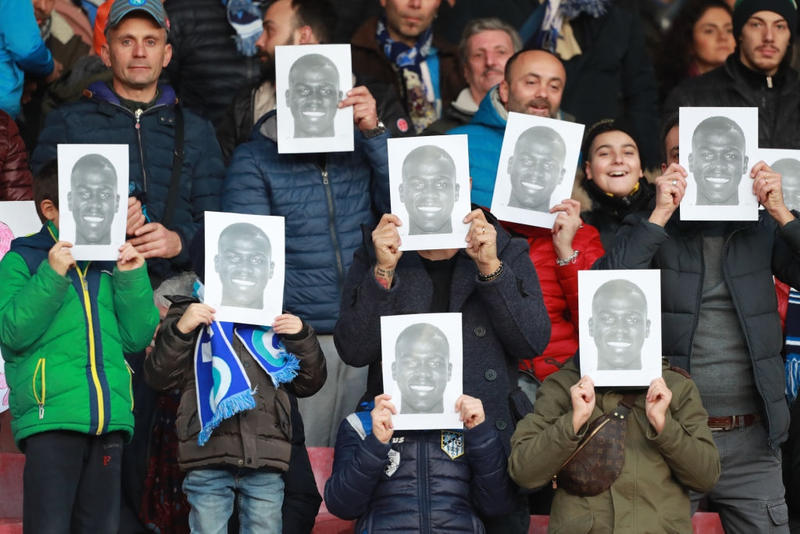 Photo Supporters Naples Koulibaly