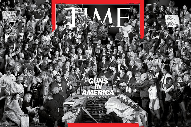 TIME Magazine JR Guns In America Application