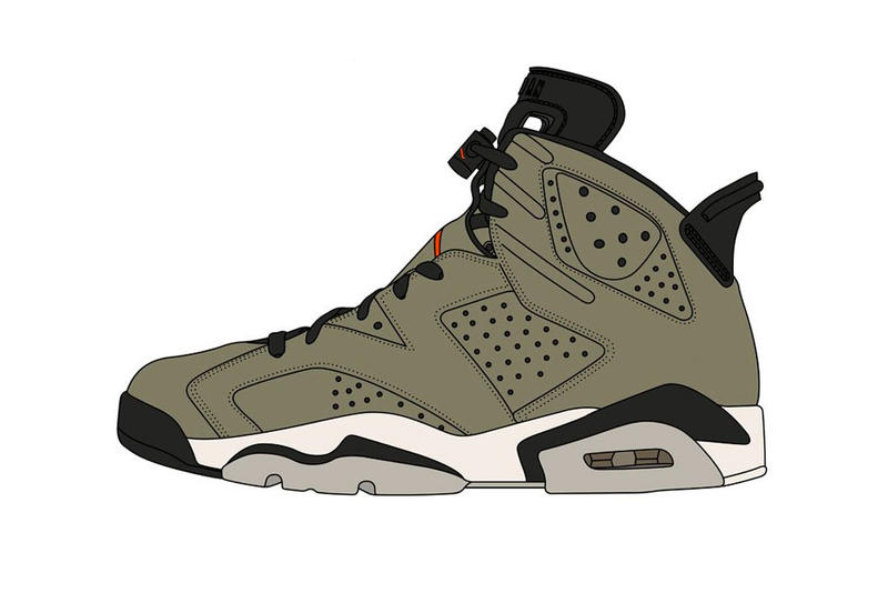 Photo Air Jordan 6 Travis Scott