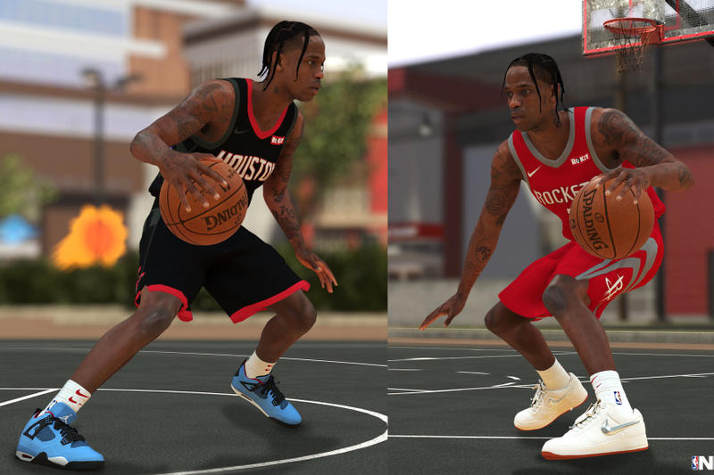 Nike Travis SCott NBA 2K19 Sneakers