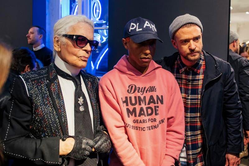 Photo De Karl Lagerfeld Avec Pharrell Et Justin Timberlake