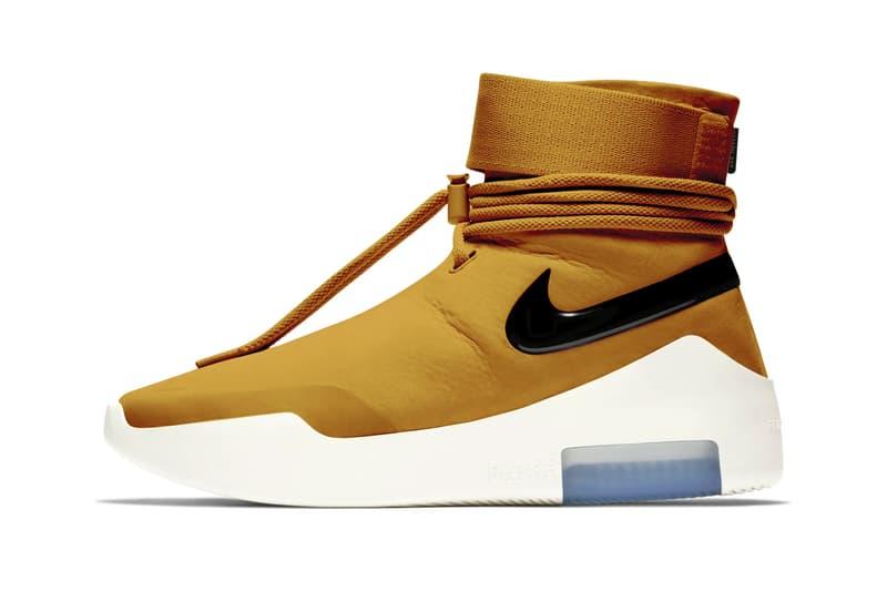 Nike Fear of God Collaboration Coloris Nouveaux Jaune Wheat