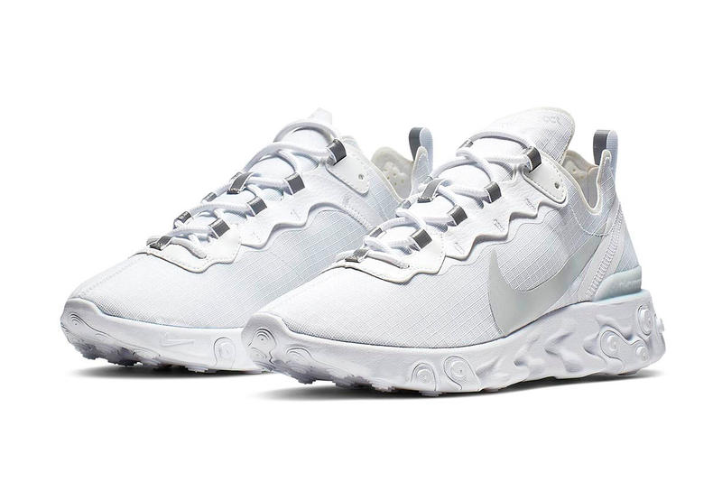 """9caa226978f39 Nike React Element 55   Un Nouveau Coloris """"White Pure Platinum ..."""