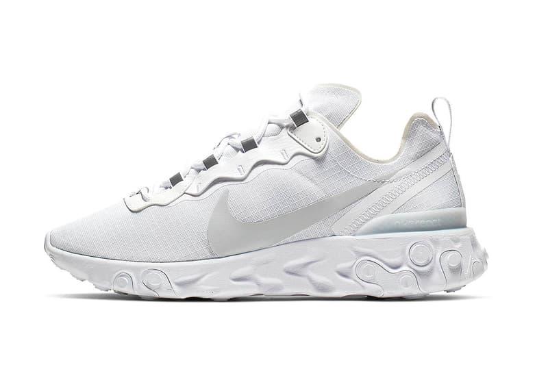 "Photo Nike React Element 55 ""White/Pure Platinum"""