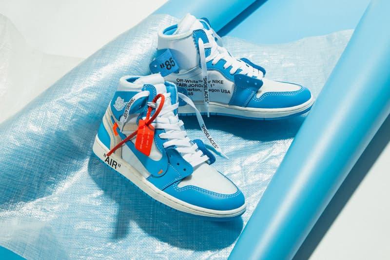 "Off-White™ x Air Jordan 1 ""UNC"" sortie"