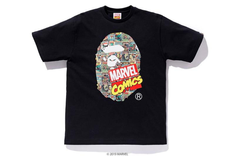 Photos de la collab BAPE x Marvel