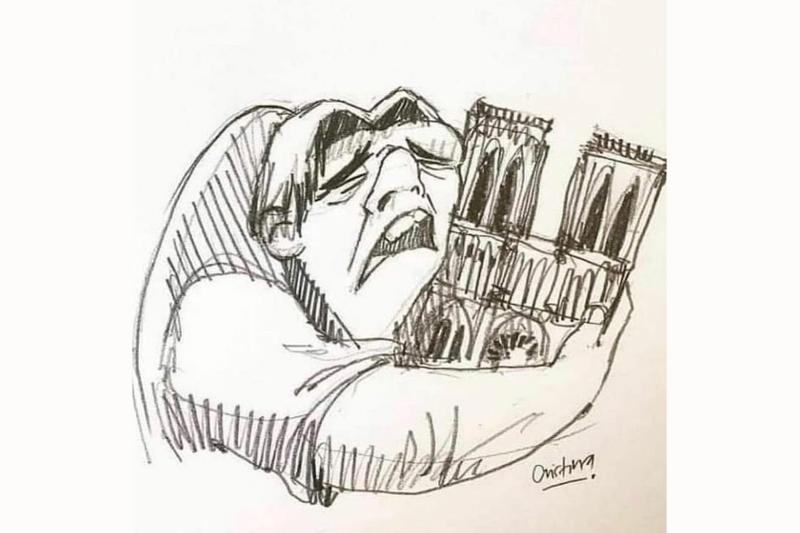 Photo incendie Notre-Dame
