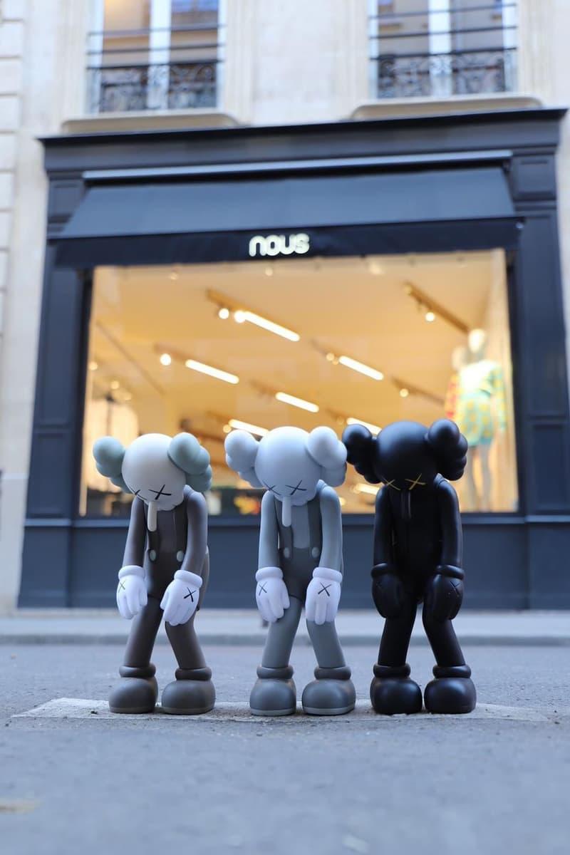 KAWS Medicom Toy Nous Paris figurines shop photos