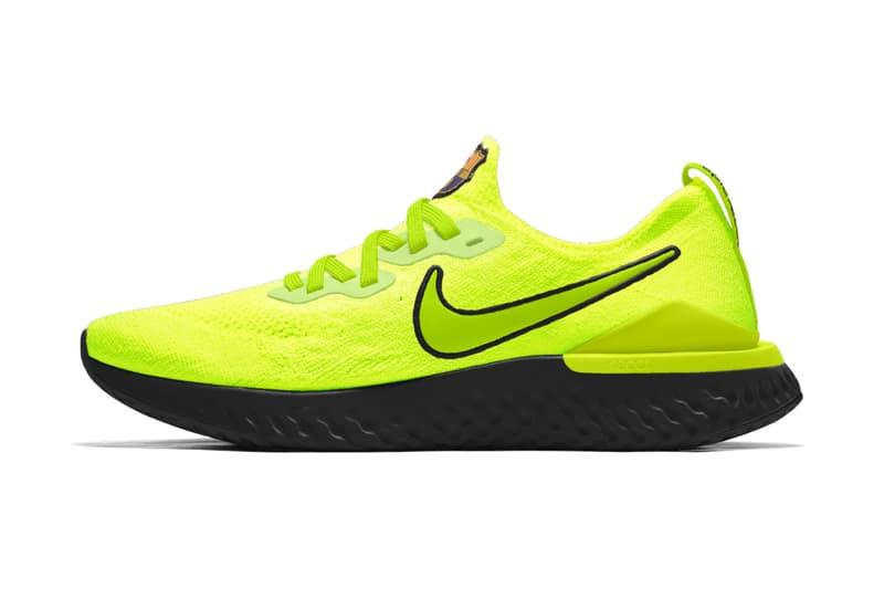 Nike Epic React Flyknit 2 Barcelone Chelsea Tottenham photos personnalisable