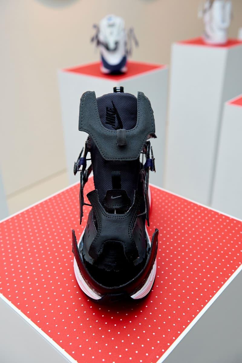 Nike Off-White sneakers déconsruites art streetwear photos