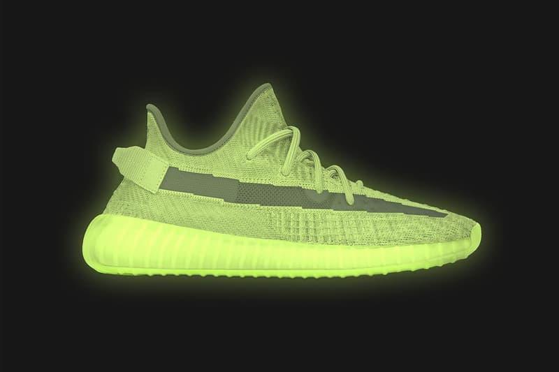 YEEZY BOOST 350 V2 glow in the dark phosphorescente sortie date photos