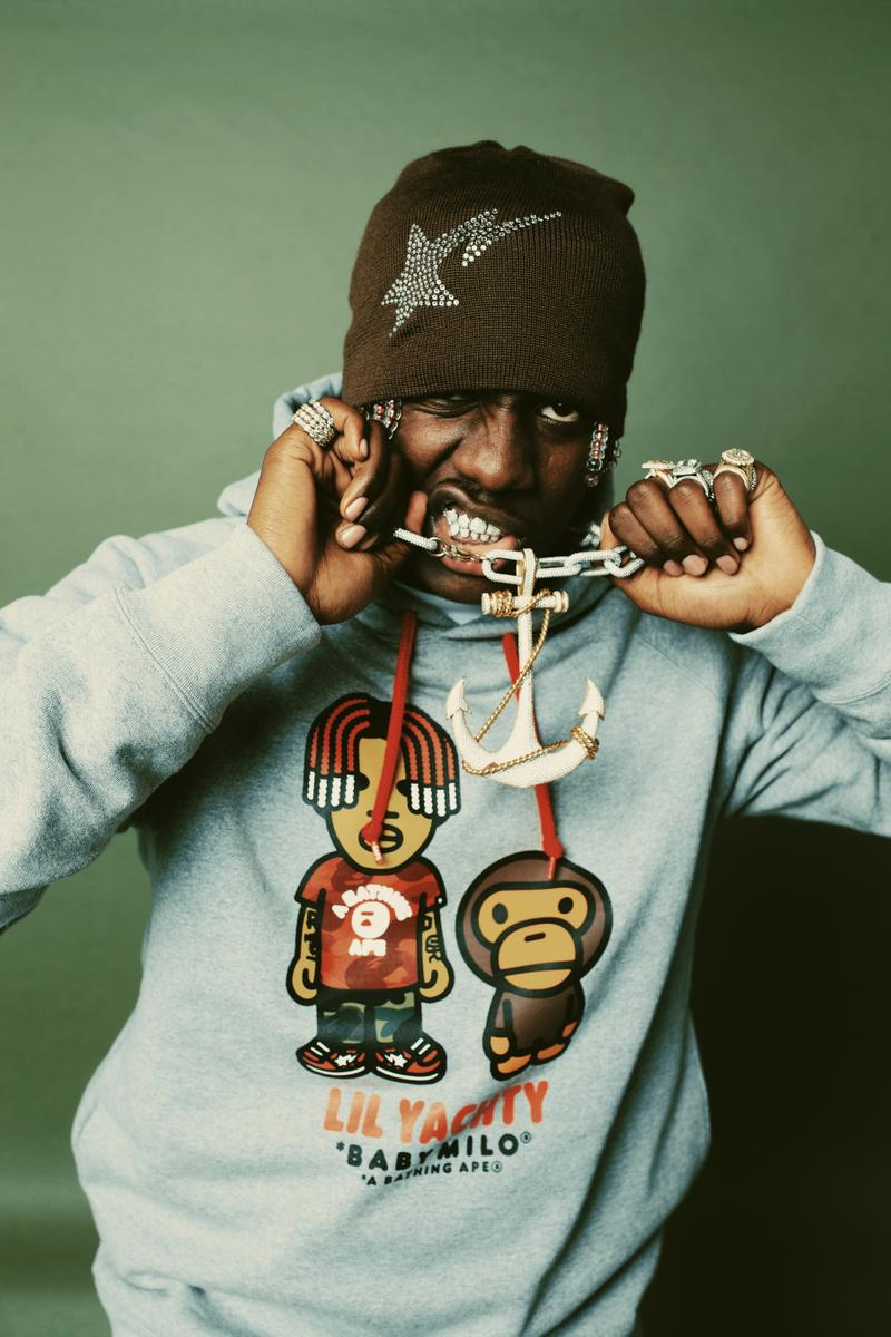 BAPE Lil yachty collection lookbook sortie
