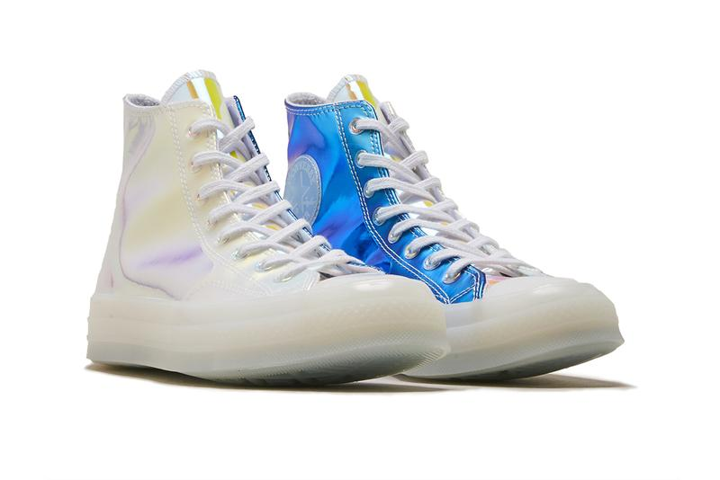 Converse chuck taylor all star iridescent transparent ete photos sortie