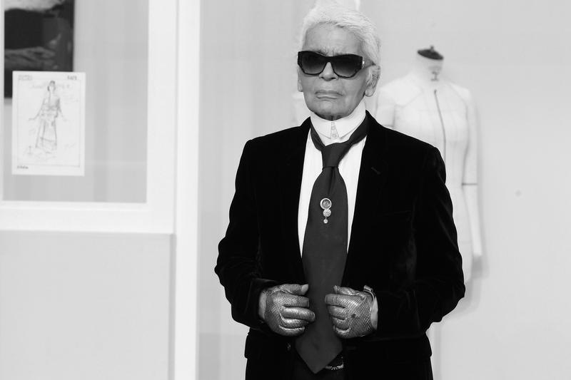 Karl Lagerfeld fashion week paris grand palais mémorial