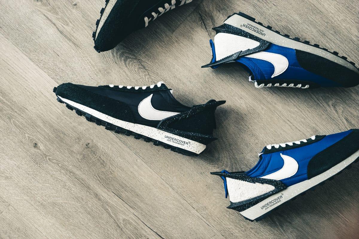 Gros plan sur les Nike Daybreak imaginées en collaboration avec UNDERCOVER