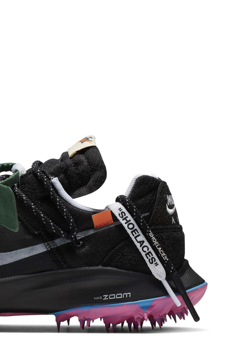 Off-White Nike sneakers athlete collection sortie date photos
