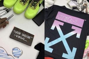 Virgil Abloh a customisé des pièces Off-White™, Louis Vuitton ou Nike pour le grand public