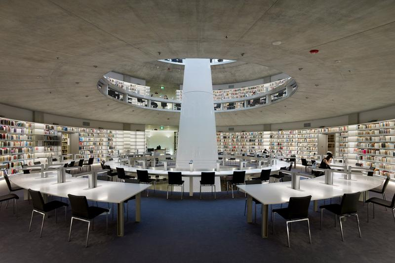 Photo du Stelios Ioannou Learning Resource Center par Jean Nouvel