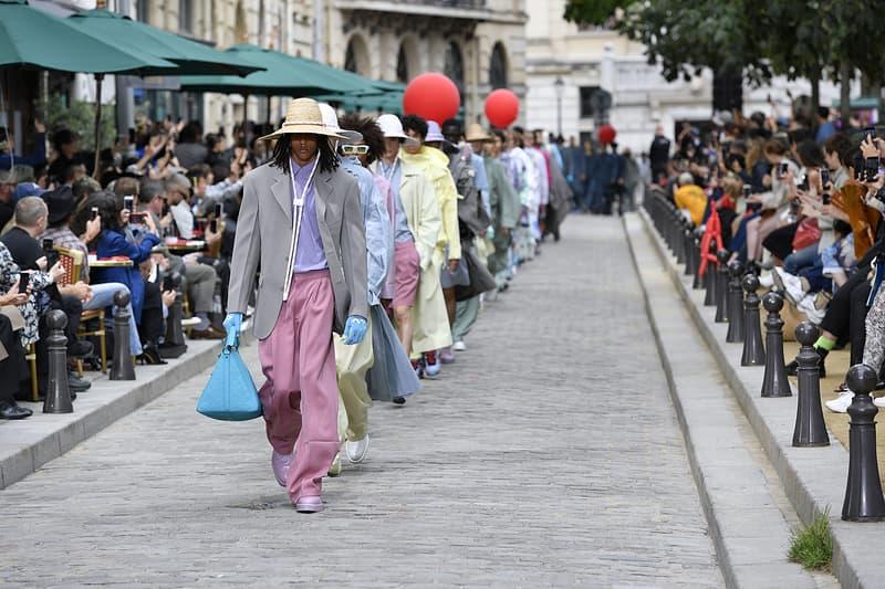 Louis Vuitton fashion week paris defile set-up photos recap