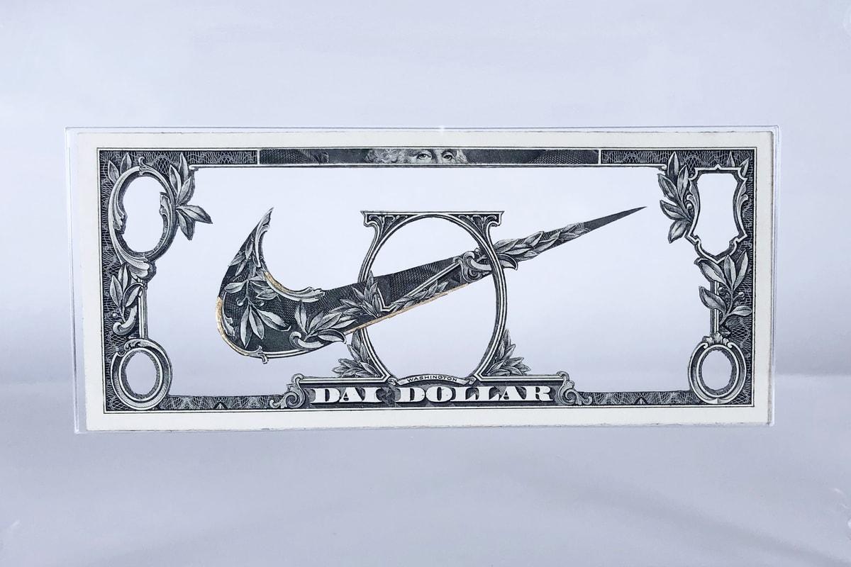 L'artiste français Dai Dai Tran réinvente des produits Nike avec des billets de banque