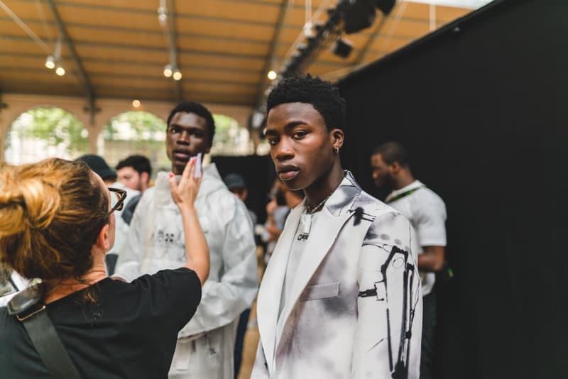 Off-White fashion week paris backstage photos