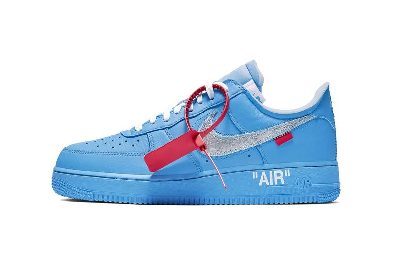 Off-White Nike Air Force 1 University Blue photos sortie