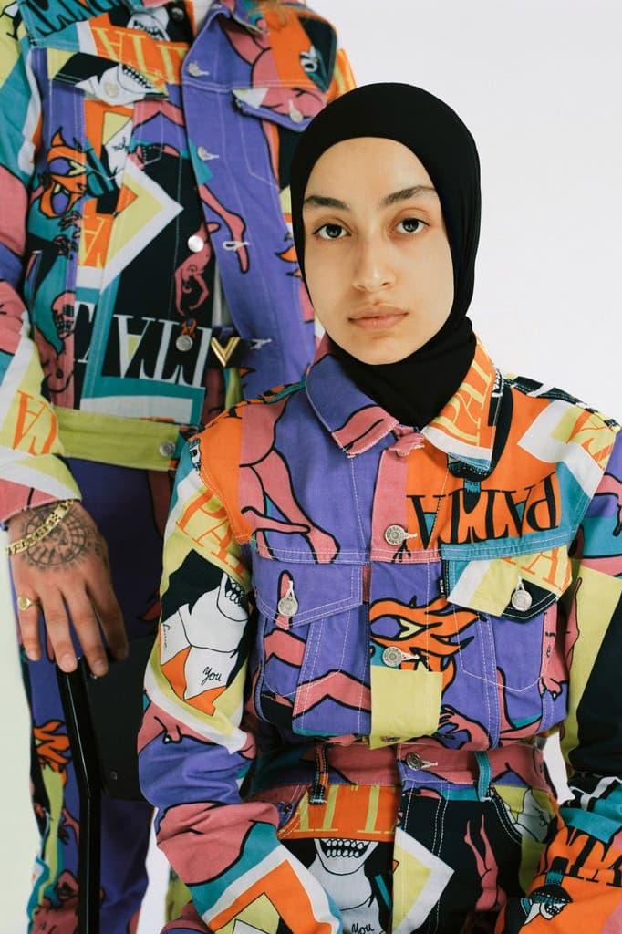 Patta veste jean patchwork photos