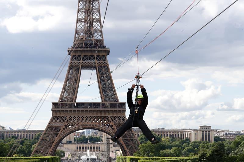 Tour Eiffel Roland Garros Perrier tyrolienne