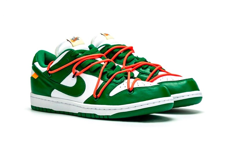 "Un aperçu détaillé de la Off-White™ x Nike Dunk Low ""Pine Green"""