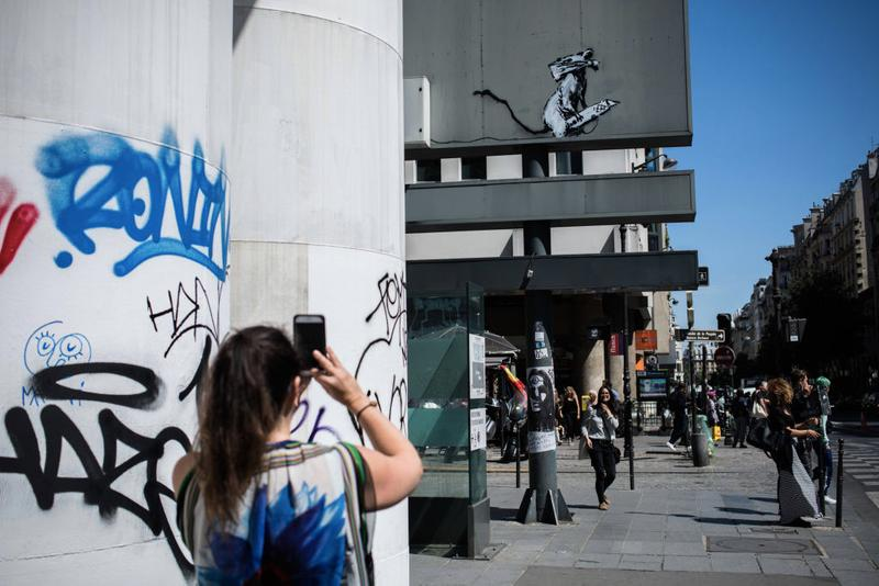 Photo Banksy Paris oeuvre