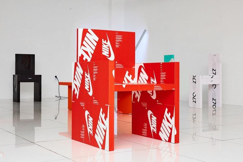 Cet artiste transforme les boîtes de sneakers Nike en meubles
