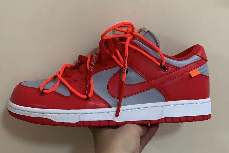 Photo Off-White™ x Nike SB Dunk Low rouge