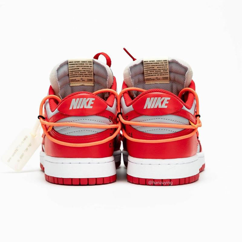 Photo Off-White™ x Nike Dunk Low rouge