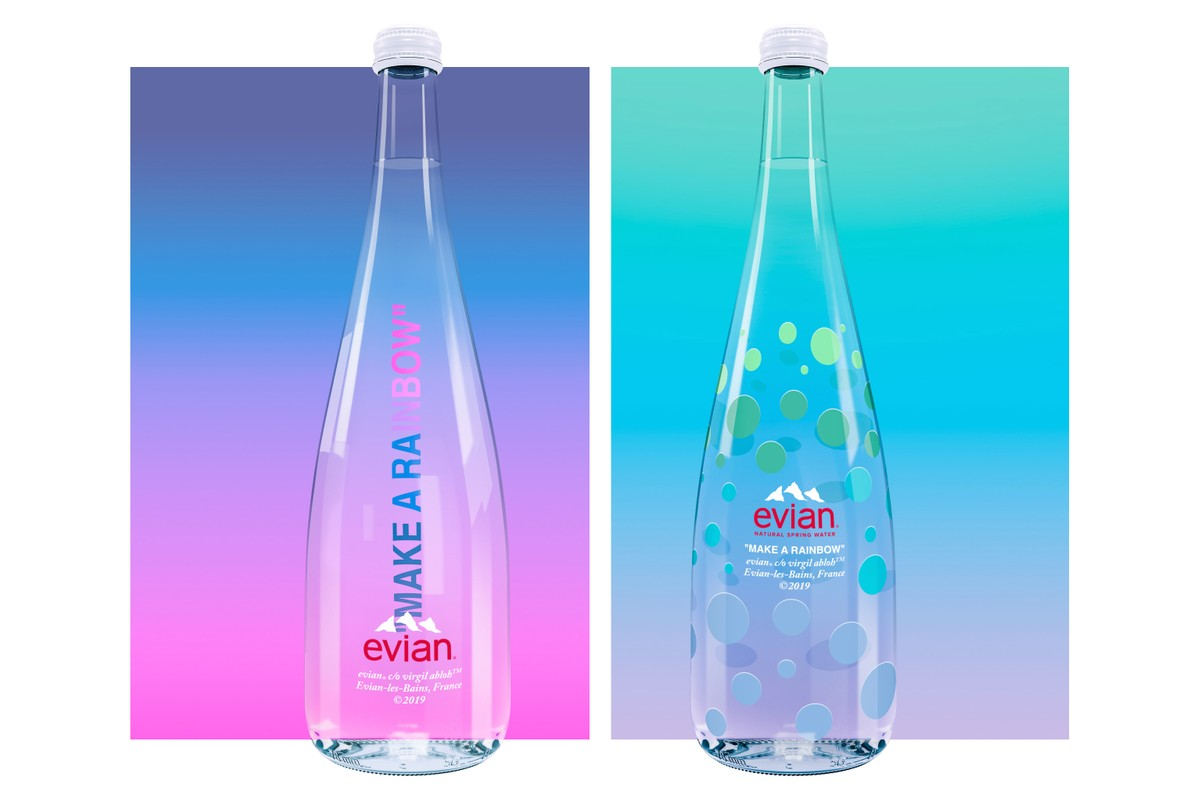 La nouvelle bouteille d'eau Virgil Abloh x Evian est disponible