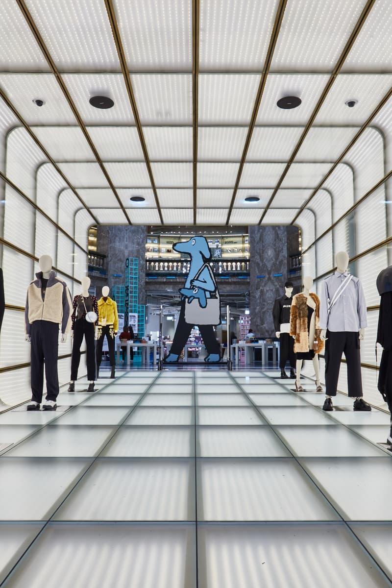 Photo Jean Jullien Galeries Lafayette Champs-Élysées
