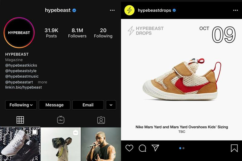 Photos Instagram HYPEBEAST