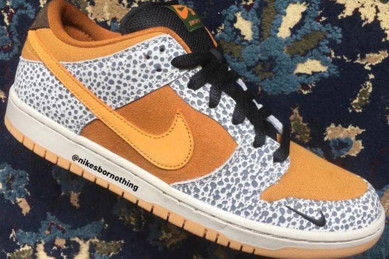 """Une atmos x Nike SB Dunk Low fait surface dans un coloris """"Safari"""""""
