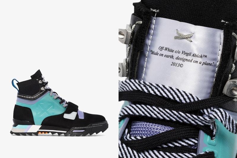 """Off-White™ dévoile une paire de boots """"faite sur terre designée dans l'avion"""""""