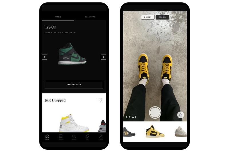 L'application GOAT vous permet d'essayer des sneakers rares grâce à la réalité augmentée