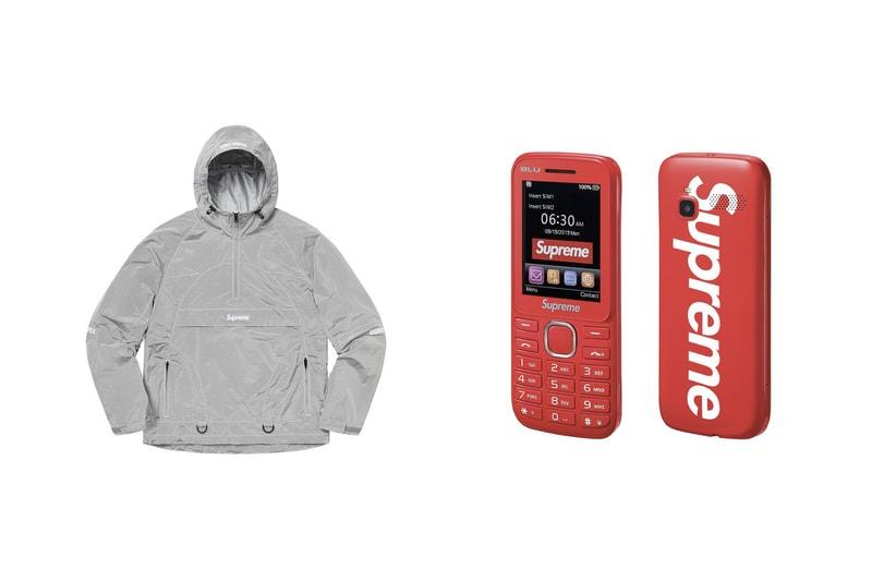 Burner phone, anorak GORE-TEX, costumes... Voici toutes les pièces et prix du drop Supreme de la semaine