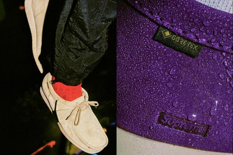 Supreme révèle une collaboration footwear avec Clarks, et pare ses Wallabees de la technologie GORE-TEX
