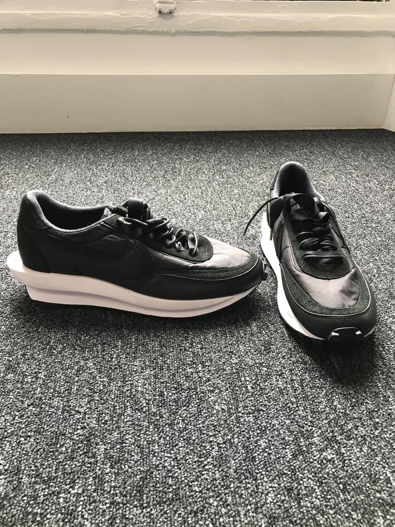 Photo sacai x Nike LDWaffle noire cuir