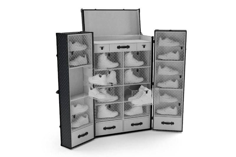 Louis Vuitton dévoile une nouvelle malle à sneakers entièrement personnalisable