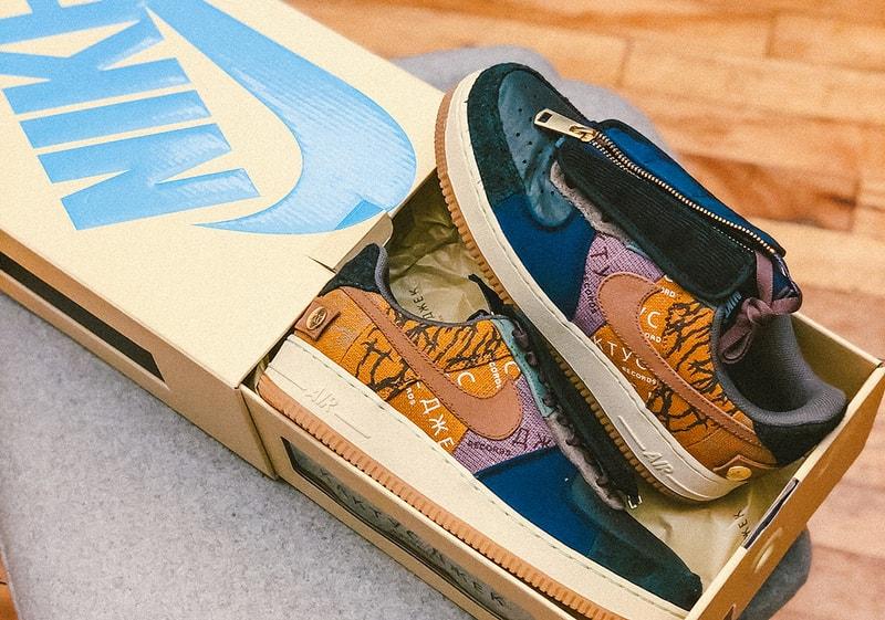 Les Nike Air Force 1 de Travis Scott seront vendues avec une boite personnalisée