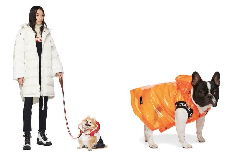 SSENSE lance une offre de vêtements pour chiens réalisés en collaboration avec Burberry, Heron Preston, ALYX ou encore Versace