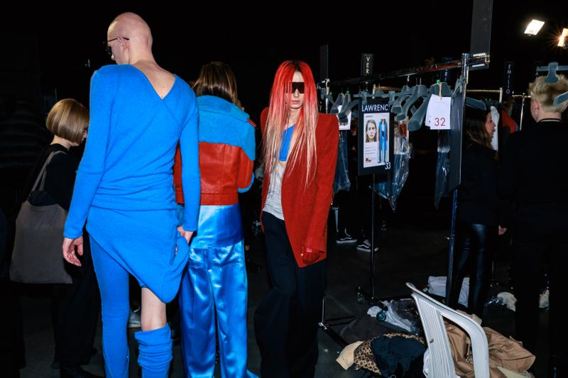 Photos backstages Rick Owens