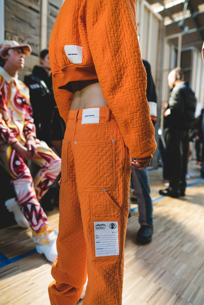 Photos backstage Heron Preston